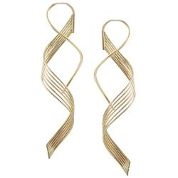 Goldfill Six-strand Spiral Earrings