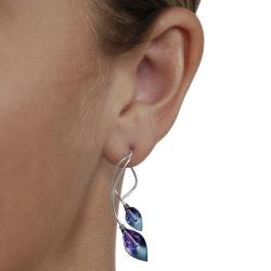 Tressa Sterling Silver and Niobium Calla Lily Earrings