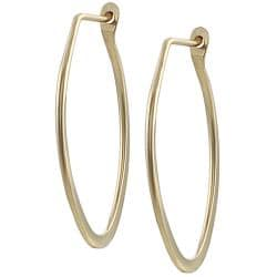 Goldfill 27-mm Flat Oval Hoop Earrings