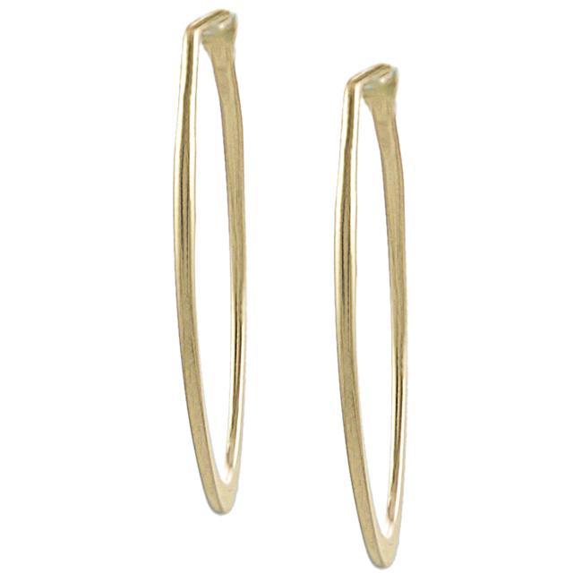 Goldfill 46-mm Flat Oval Hoop Earrings