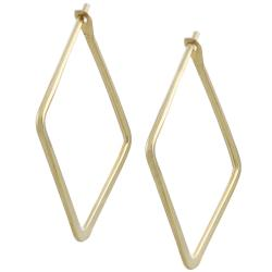 Goldfill 22-mm Flat Square Hoop Earrings