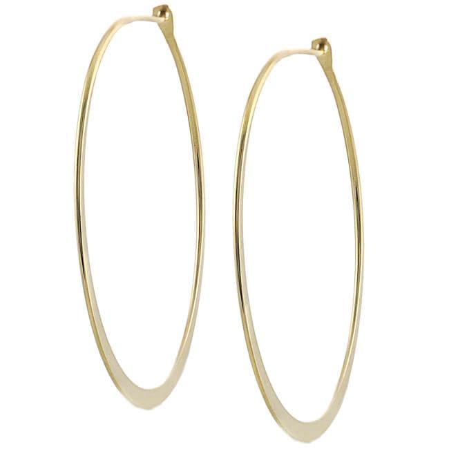 Goldfill 45-mm Flat Hoop Earrings