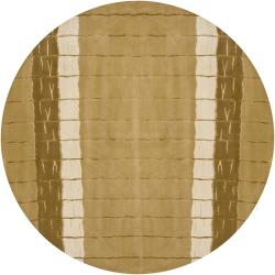 Artist's Loom Hand-knotted Contemporary Stripes Rug (7'9 Round)