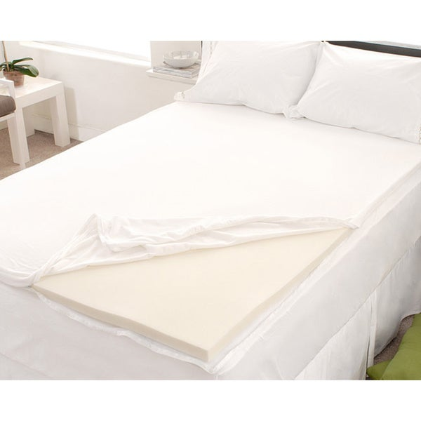 2 Inch ErgoSoft Natural Latex Foam Mattress Pad Topper, Twin XL Under $50