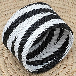 Telephone Wire Black and White Bangle Bracelet (South Africa)