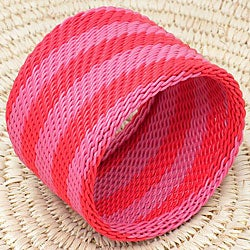 Telephone Wire Pink and Red Bangle Bracelet (South Africa)