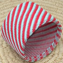 Telephone Wire Red Stripes Bangle Bracelet (South Africa)