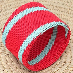 Telephone Wire Red and Blue Bangle Bracelet (South Africa)