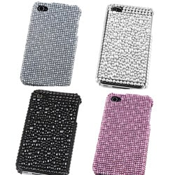 INSTEN Silver Diamond Snap-on Phone Case Cover for Apple iPhone 4