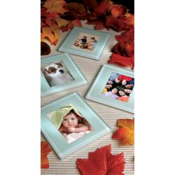 Sarah Peyton Glass Photo Coasters with Stand