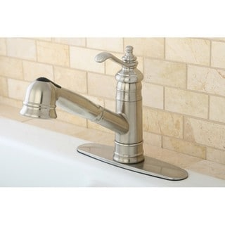 Templeton Satin Nickel Pullout Kitchen Faucet