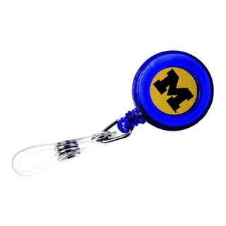 Michigan Wolverines Retractable ID Badge Clip