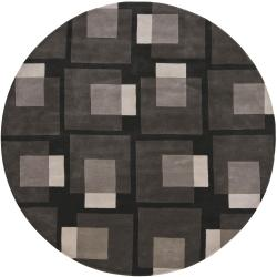 Hand-tufted Mandara Grey New Zealand Wool Rug (7'9 Round)