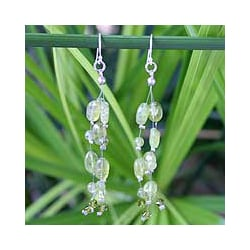 Peridot 'Lime Drops' Waterfall Earrings (Thailand)