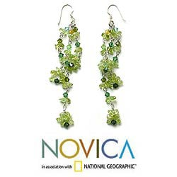 Peridot 'Lime Rain' Earrings (Thailand)