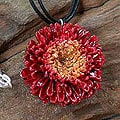 Chrysanthemum 'Thai Sun' Natural Flower Necklace (Thailand)