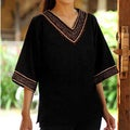Cotton 'Casual Ebony' Tunic (Thailand)