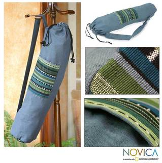Cotton 'Atitlan Lake' Yoga Mat Bag (Guatemala)