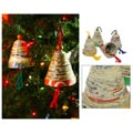 Set of 4 Recycled Paper 'Bells of Hope and Joy' Ornaments (Guatemala)