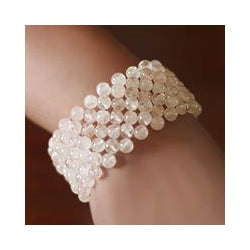 Rose Quartz 'Mystical Muse' Stretch Bracelet (India)