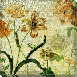 'Vintage Floral II' Giclee Canvas Art