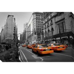 'Taxies in Manhattan' Giclee Canvas Art