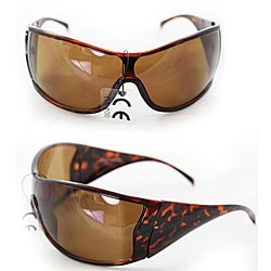 Women's P1317 Brown Shield Sunglasses