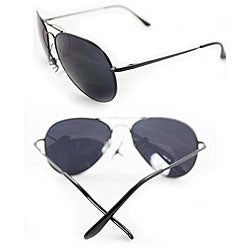 Women's 387 Black Aviator Sunglasses