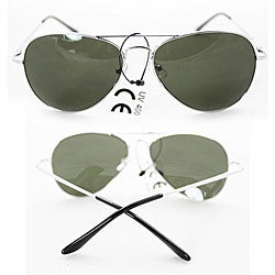 Women's 387 Silver Aviator Sunglasses