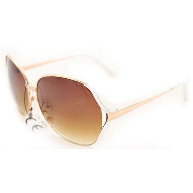 Women's M9207 Gold Round Sunglasses