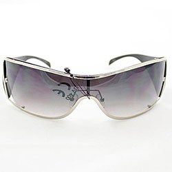 Women's 6787 Black Shield Sunglasses