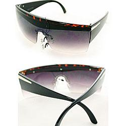 Women's P1862 Gaga Square Black Sunglasses
