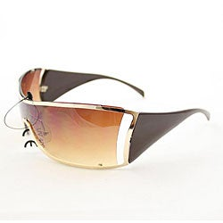 Women's 6787 Brown Shield Sunglasses
