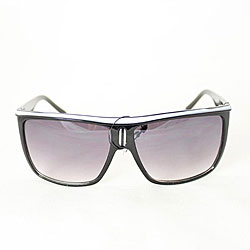 Women's P1908 Black/ White Square Sunglasses