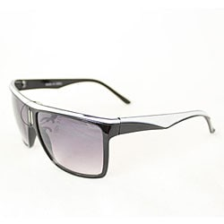 Women's P1908 Black/ White Square Sunglasses