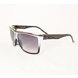 Women's P1908 Brown/ White Square Sunglasses