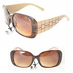 Women's 26510 Brown Checker Sunglasses