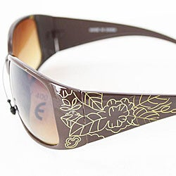 Women's Brown 8827 Vintage Sunglasses
