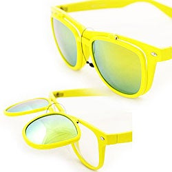 Women's Yellow Glassy Fashion Sunglasses