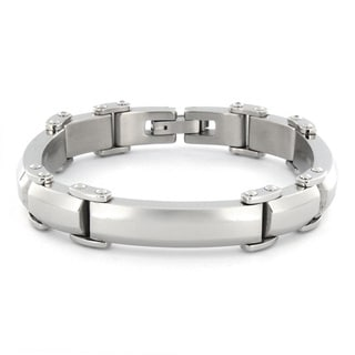 Crucible Stainless Steel Men's High Polished Bracelet