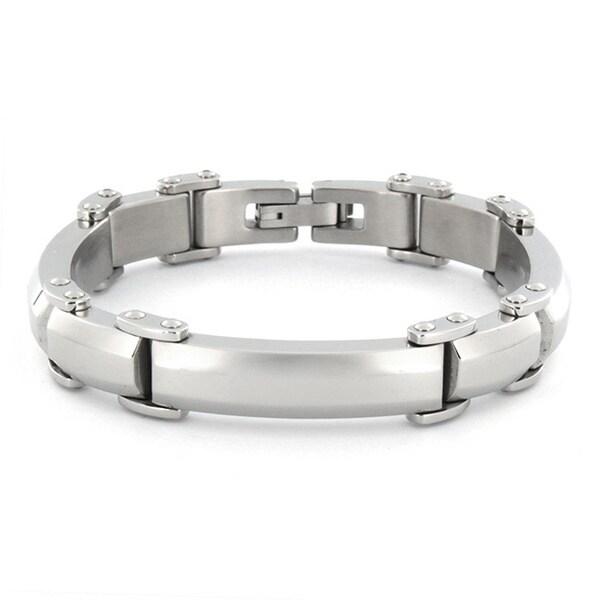 Crucible Stainless Steel Men's High Polished Bracelet