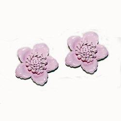 Pink Flower Shoe Clips