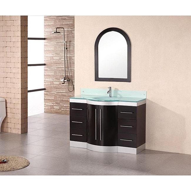 Virtu USA Ava 48inch Single Sink White Bathroom Vanity Set