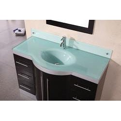 Design Element Tuscany 48-inch Single Sink Glass-top Vanity- with Faucet