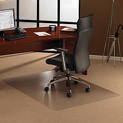 Floortex Cleartex Ultimat Polycarbonate Rectangular Chair Mat (48x53) for Carpet