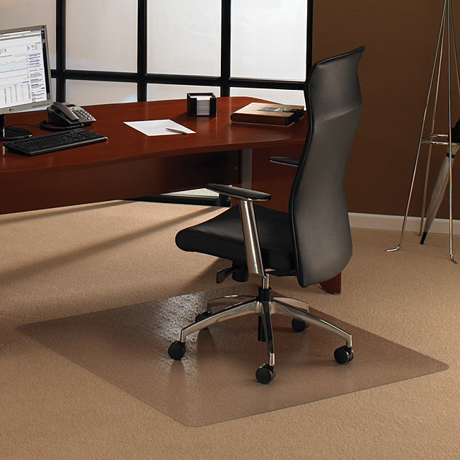 Floortex Cleartex Ultimat Polycarbonate Rectangular Chair Mat (48 X 48) For Carpet (Clear Affordable, long lasting constructionProvides ergonomic benefits for chair user by providing easy glide movement and reduced leg fatigueRectangle shapeGripper back e