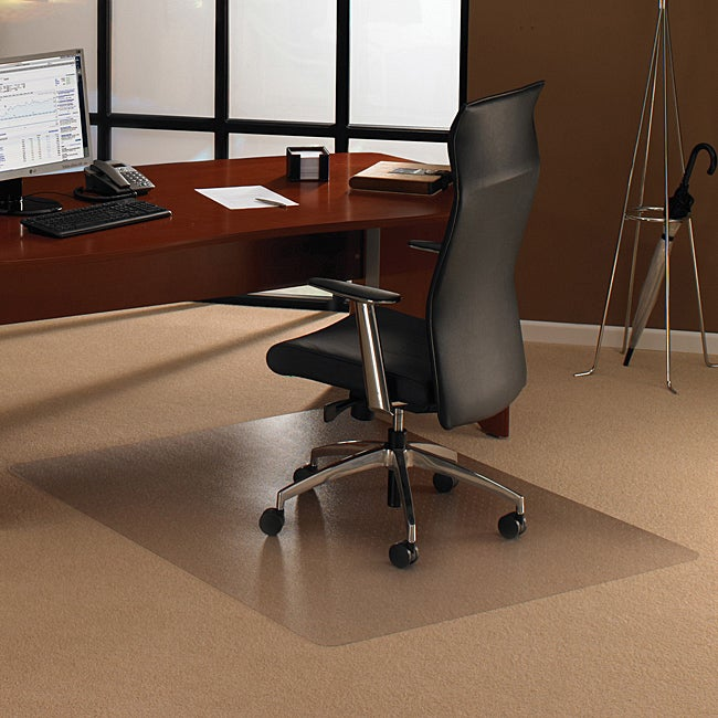 Floortex Cleartex Ultimat Polycarbonate Rectangular Chair Mat (47 X 30) For Carpet (Clear Affordable, long lasting constructionProvides ergonomic benefits for chair user by providing easy glide movement and reduced leg fatigueRectangle shapeGripper back e