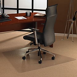 Floortex Cleartex Ultimat Polycarbonate Trapezoid Chair Mat (48 x 60) for Carpet