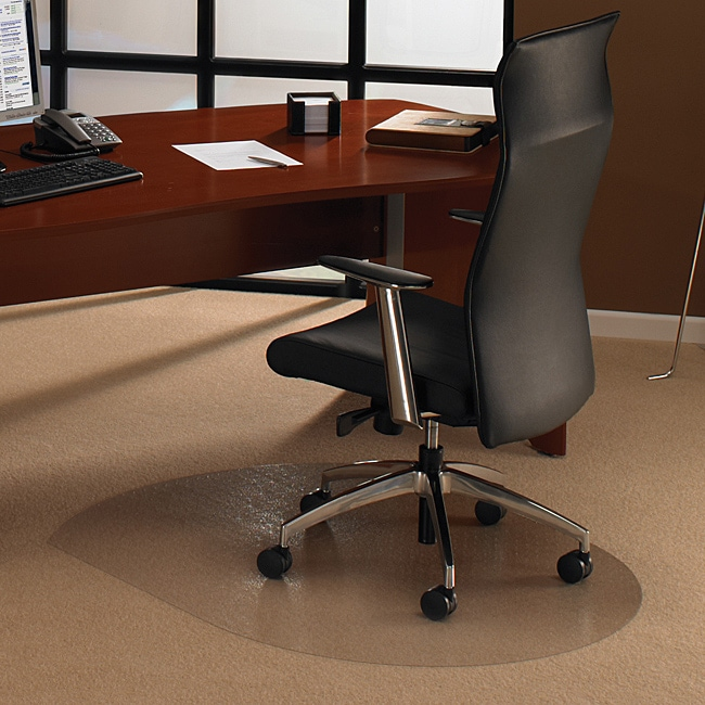 Floortex Cleartex Ultimat Polycarbonate Contoured Chair Mat (39 x 49) for Carpet