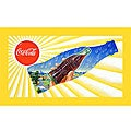 Sun and Rain Coke Bottle Vintage Canvas Art